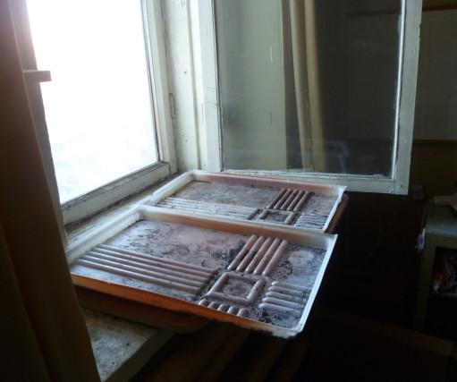 место для рассады у окна