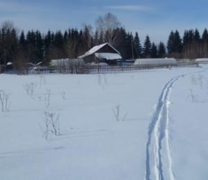 зима снег на усадьбе