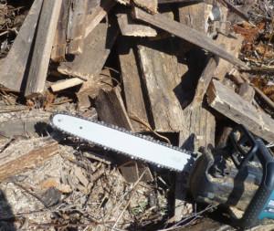 электропила для заготовки дров
