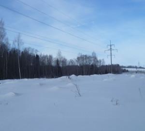 линия электропередач зимой